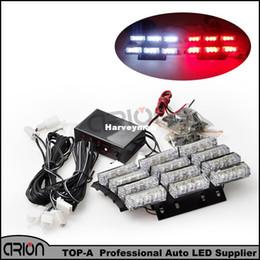 Wholesale Emergency Vehicle Green Light - 36 4x9 LED 36W Emergency Vehicle Strobe Light 1PC 1W Flash Warning Red White LED Police Fireman Lamp Free Shipping