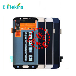 Wholesale Galaxy Touch Screen Digitizer - Excellent Quality For Samsung Galaxy S4 S5 S6 S6 S6Edge S7 S7E Lcd Digitizer Displaiy Original Touch Screen Full Assembly Free DHL Shipping