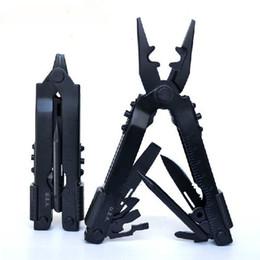 Wholesale Black Bottle Opener - Brand New 16.7CM Black Color 2CR13 Stainless Steel Multifunction Tools With Multi-purpose Pliers Knife Bottle Opener Etc