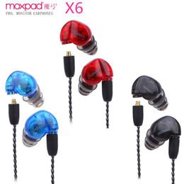 Auriculares de aislamiento de sonido online-Auriculares deportivos Moxpad X6 originales con micrófono para reproductor de MP3, MP5, MP4, auriculares para auriculares in-ear con aislamiento de auriculares para teléfonos móviles