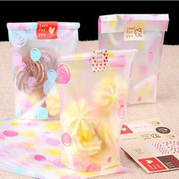 Wholesale Bake Bread - Free shipping, biscuit cake bread cookie bag,pink yellow dot printed plastic snack bag, bake gift bag,12cm*20cm