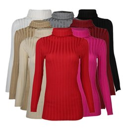Wholesale Ladies Warm Shirts - Wholesale-Cashmere Sweater Women Turtleneck Pullover Ladies Sweaters Shirt Hot Sale Wool knitted sweater Female Warm Tops Sale Clothing 18