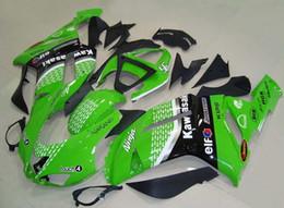 Wholesale kawasaki 636 motor - New ABS Motorcycle bike Full Fairing Kits 100% Fit For Ninja ZX6R 636 07 08 ZX 6R 2007 2008 motor Fairings set black white green