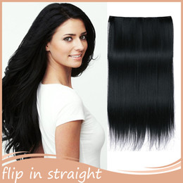 Wholesale Double Drawn Virgin - 7A Double drawn 170g Fish Line Hair weaving 1B 26''