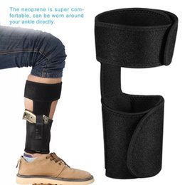 Wholesale Hiking Magazines - Ankle Holster Adjustable Neoprene Elastic Wrap Concealed Ankle Carry Gun Holster with Magazine Pocket for Small Frame Pistol Handgun
