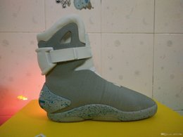 Wholesale Grey Rubber Bands - Air Mag shoes Back To The Future Men's shoes not automatic shoelace