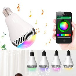 Wholesale Control Seal - Bluetooth 4.0 Speaker Smart LED Light Bulb Music Audio Speaker Wireless Control RGB Color Changing Bulbs E27 Lamp For all android devices
