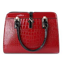 Wholesale Hand Bags Designs - 2017 Brand Women Trapeze PU Leather Tote Bag Ladies Handbags Zipper Shoulder Crossbody Bag Vintage Hand Bag Design