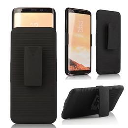Hardclip holster online-Holster Case Clip Ständer Hard PC Rüstung Für iPhone XR XS MAX X 8 7 6 6 s plus, Für Galaxy Note 8 Hüfte Drehbarer Hybrid Clip Gürtel Combo Ständer