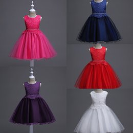 Wholesale Mini Rhinestone Applique Dress - Cheap Flower Girl Dresses Lace Top Fluffy Tulle Wedding Party Dresses For Kids Real Photo First Communion Dresses 2017 New MC1047