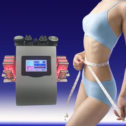Wholesale Diode Laser Pads - 40k Ultrasonic liposuction 8 Pads LLLT lipo Laser cavitation Slimming Machine Vacuum RF Skin Care Salon Spa Equipment