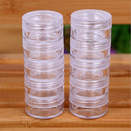 Wholesale Wholesale Canister Bottles - 5G Cream Jars, Screw Caps,Clear Plastic Makeup Sub-bottling,Empty Cosmetic Container,Small Sample Mask Canister JF-106