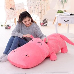Wholesale Toy Hippo Gifts - Cartoon plush toys hippo PP cotton plush toys children's toys and gifts free shipping