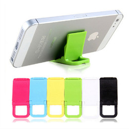 Wholesale cell phones 4s - Universal Foldable Mini Stand Portable Folding Holder For Cell phones Iphone4 4s 5 Samsung HTC
