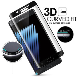 Wholesale 4d Glasses - Full Coverage Curved 4D 3D Tempered Glass Screen Protector FOR SAMSUNG GALAXY S8 plus S7 S6 Edge,New NOTE 8 9H Hardness Toughened Film Guard