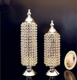 Wholesale Diamond Candles Holders - Crystal Candle Holders Diamond Shape crystal candelabra candle holder wedding table centerpieces dinner table decoration