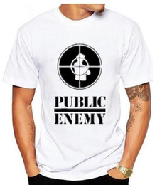 Wholesale Anti Music - 2017US Rap Team Public Enemy T Shirt Sublimation Printed Graphic Print T-shirt Summer Style Tshirt S - 3XL Novel music teeS-XXXL gtnj