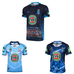 Wholesale 2017 NSW Blues State Of Origin jerseys home away New South Wales Blues rugby jerseys top quality CAPTAINS HOLDEN shirts