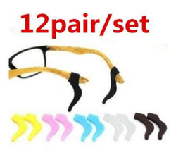 Wholesale M Eyeglasses - Ear Hook Sunglasses eyeglasses silicone ear Glasses accessories Hook Anti Slip temple tip holder