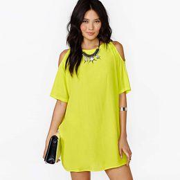 Wholesale Short Sexy Slip Dresses - Femme Summer Off Shoulder Dress Spaghetti Strap Short Sleeve Casual Chiffon Sexy Black Slip Dress Loose 2017