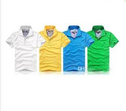 Top petites entreprises en Ligne-Top marque vêtements New Men Polo Shirt Hommes Petit Cheval Broderie Business Casual solide mâle polo shirt À Manches Courtes respirant polo shirt