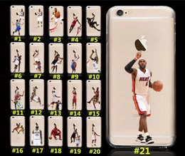 Wholesale Character Phone Cases - New Hot stock Star Phone Case USA Shooting Design Coloured Drawing Sport Character Matte PC Hard Back Case Cover for iPhone 6 6s 7 Plus