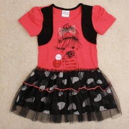 Wholesale Nova Girls Summer Dress - 2017 fashion style baby girl dress red lace dress nova kids brand cotton summer style dresses party princess dresses