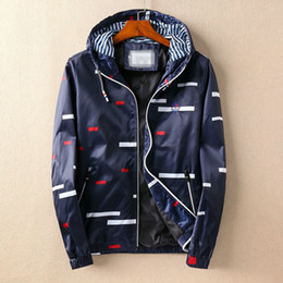 Wholesale Mens Casual Jackets Sale - Free Shipping 2017 New Arrival Design Fashion Autumn Winter Famous Style Young American And American Slim Mens Casual Hooded Jacket Hot Sale