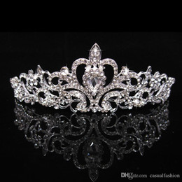 girls tiaras for wedding Promo Codes - Hot Sale Wedding Shining Crowns Fashion Cheap Crowns For Bride Queen Girls Party Wedding Hair Accessories Jewelry Crown