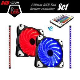 Canada Vente en gros - Ventilateur ALSEYE LED refroidisseur RGB ensemble 120mm radiateur de ventilateur d'ordinateur Télécommande avec deux bandes 5050 RGB et 2 ventilateurs 12v 1300RPM cheap led strips sets Offre