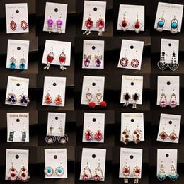 Wholesale Stud Earings Heart - Clearance A Variety of Earrings 12Pcs lot Wholesale Fashion Jewelry Earrings For Women Stud Earring Crystal Drop Earings Hoop Dangle Earing