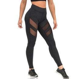 Wholesale Best Selling Leggings - 2017 Large size women's best selling hollow trousers quick dry and breathable ladies trousers for yoga and other sports leggings