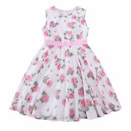 Wholesale Girls Rose Flower Tutu Dress - Kidsalon Princess Dress Baby Girls Summer Dresses 2017 Designer Clothes Kids Rose Flower Dress for Girls Costumes Robe Enfant