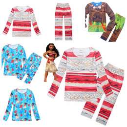 Wholesale moana kids clothing set maui boys pajams baby girl outfits kids sleepwear nightwear homewear cheap price