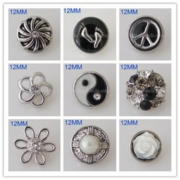 Wholesale Small Metal Hooks - Partnerbeads Interchangeable Jewelry Accessory 12mm Small Metal Snap Button Ginger Snaps Crystal Ginger Snap Jewelry Free Shipping KB5559-S