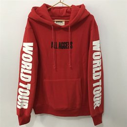 Wholesale fashion access - Wholesale- Justin Bieber Hoodie ALL ACCESS Print Wourld Tour Sweatshirt Men Streetwear Fashion Tracksuit Women Fans Purpose Tour Pullover