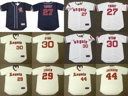 Wholesale Men s Women s Youth California Angels MIKE TROUT ROD CAREW NOLAN RYAN REGGIE JACKSON Throwback Jersey Stitched