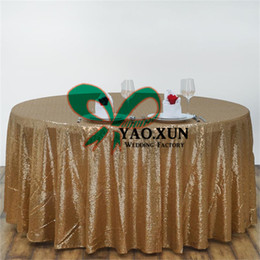 Wholesale Tablecloth Cheap Wedding - Round Sequin Table Cloth \ Cheap Wedding Tablecloth Free Shipping