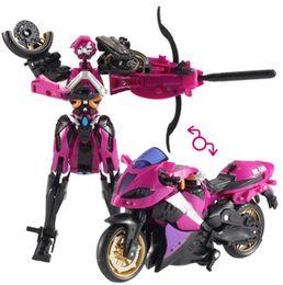 Wholesale Al Plastic - Motorcycle Model Transformative Al West Carroll Robot Anime Plastic Toys Car Action toys Action Figure Boys Gift For Boy Toys
