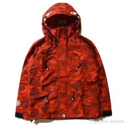 Wholesale Popular Coat Brands - Autumn Men's Thin Camouflage Shark Hoodies Windbreaker Hoodies Fashion Cardigan Leisure Coat Popular Brand Lapel Thin Hoodies