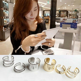 Wholesale Open Top Finger Rings - 3Pcs Set Fashion rings Top Of Finger Over The Midi Tip Finger Above The Knuckle Open Ring Metal Alloy