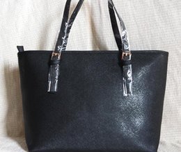 Wholesale Top Women Travel Bag - Drop shipping Top quality fashion famous brand women casual tote bag travel jet set PU leather handbags