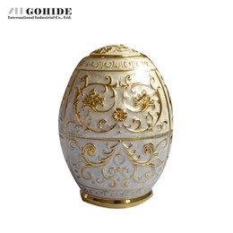 Wholesale Toothpicks Automatic - Wholesale- Gohide Innovation Product Design Handmade Carved White Automatic Toothpick Box Home Ktv Decoration Supplies Tooth Pick Holder