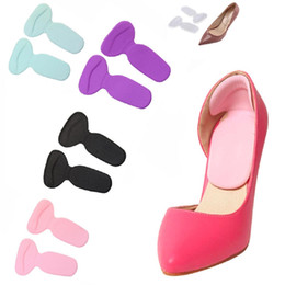 Wholesale Silicone Rubber Foot - T-Shape insoles high heel shoes pad super soft insole Non Slip Sponge Cushion Foot Heel Protector CAAH0009