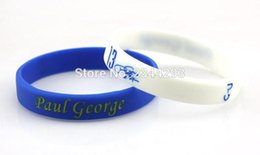 Wholesale Mixed Color Silicone Rubber Band - 3pcs lot Paul George Silicone Wristbands Basketball Rubber Bracelets Mix color rubber wristband No.13 player rubber band