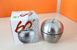 Wholesale Mechanical Stainless Steel Egg Timer - Egg Apple Stainless Steel 60 Minute Kitchen Timer,Silver Manufacturers supply, high quality free shipping Free Delivery