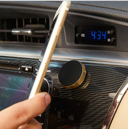 mini suporte magnético Desconto Universal de metal magnetic air vent suporte do telefone móvel mini ímã suporte do carro titulares mount holder para iphone 7 8 plus samsung s8 s7 gps venda