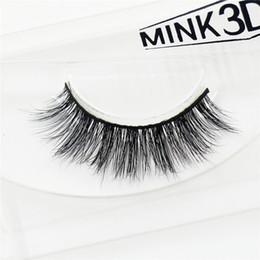 Wholesale Siberian Mink Eyelash Extension - 3D Mink Lashes False Eyelashes Natural Makeup Lashes Eyelash Extension Make Up real siberian mink strip eyelashes A02