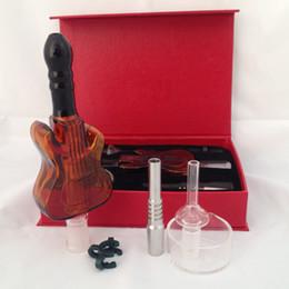 Kit de 14mm Nectar Collector Guitarra kit de vidro com Vidro titanium ponta de vidro Prego fumar cachimbo de água DHL frete grátis de