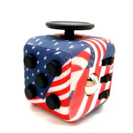 Wholesale Camouflage Toys - Camo Fidget Cube Mix Lot 16 Colors Magic Cube Camouflage Fidget Cube ADHD 4 Colors Fidget Cubes Novelty EDC Decompression Toy